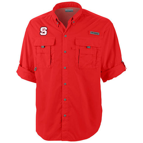 NC State Wolfpack Red Bahama Long Sleeve Button Down Shirt