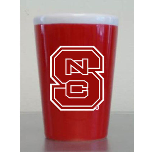 NC State Wolfpack Red 2 oz Sopia Ceramic Shot Glass