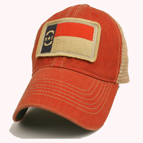 "State of North Carolina Scarlet Trucker ""State Flag Adjustable Hat"