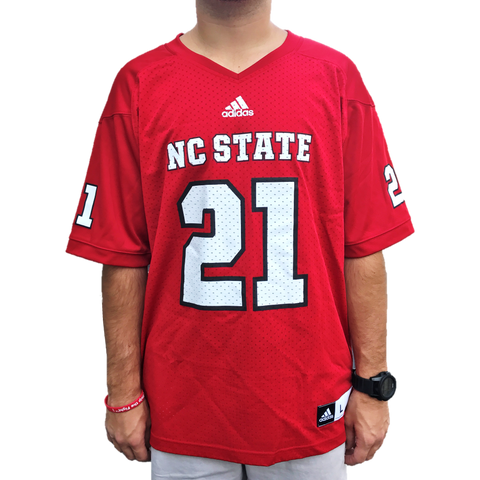 NC State Wolfpack Adidas Red #21 Replica Football Jersey