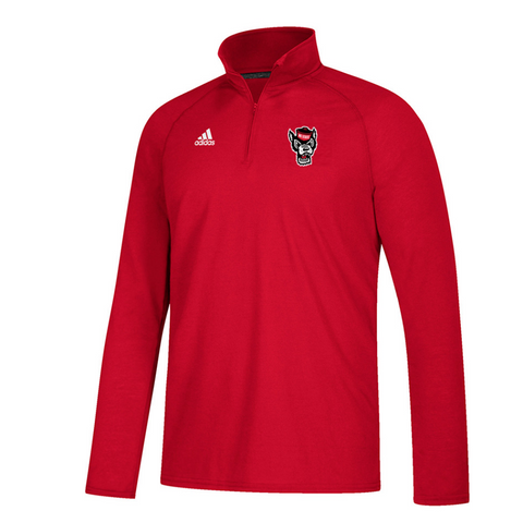NC State Wolfpack Adidas Red Wolfhead 1/4 Zip Climalite Jacket