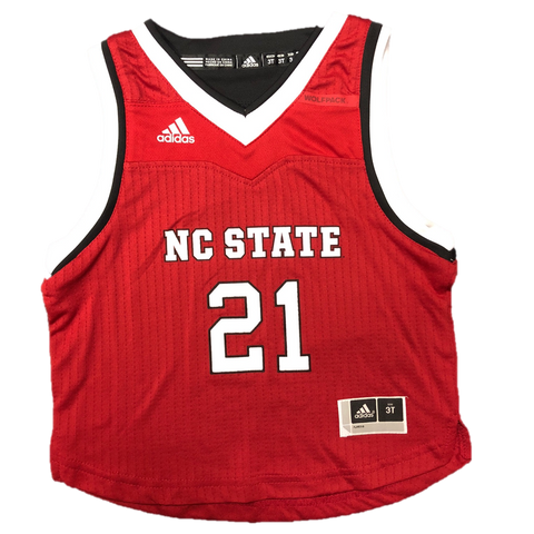 NC State Wolfpack Adidas Toddler Red #21 Replica Basketball Jersey