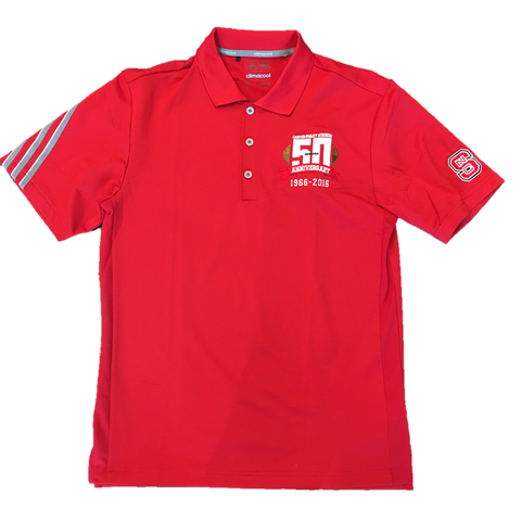 NC State Wolfpack 3-Stripe 50th Anniversary Polo