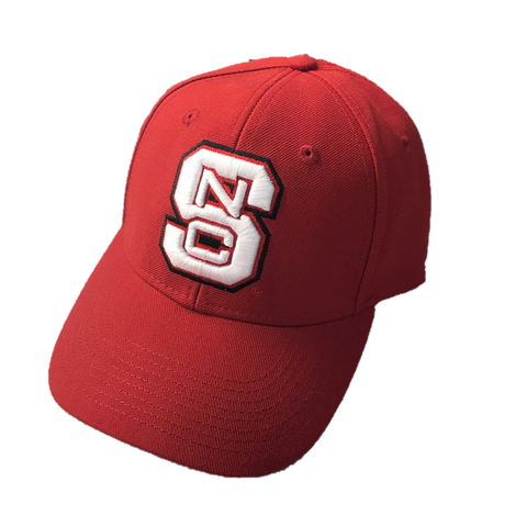 NC State Wolfpack Adidas Red Block S Structured Adjustable Hat