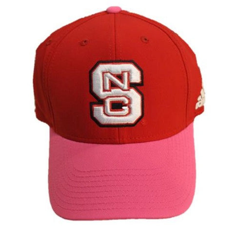 "NC State Wolfpack Adidas Two Tone Climalite ""All For The Fight"" BCA Flex Fit Hat"