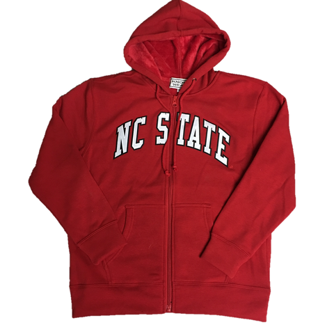 NC State Wolfpack Furry Youth Full Zip Jacket