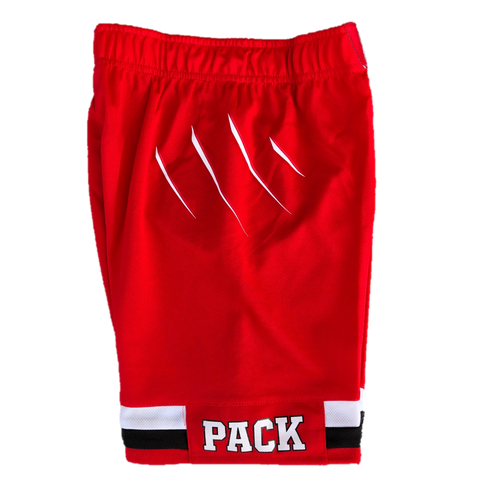 NC State Wolfpack Adidas Toddler Red 2017 Road Replica Basketball Shorts