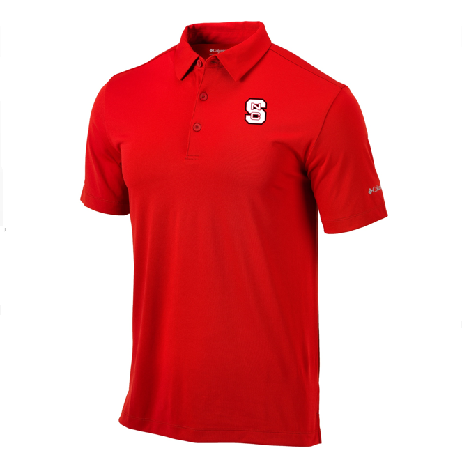 NC State Wolfpack Columbia Red Omni-Wick Drive Polo