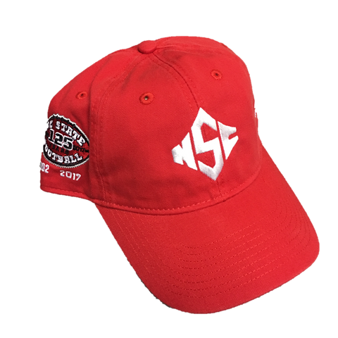 NC State Wolfpack Adidas Red Diamond S 125 Years Hat