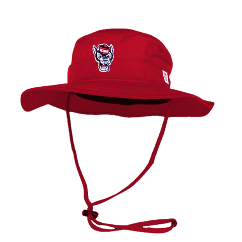 NC State Wolfpack Red Wolfhead Boonie Hat