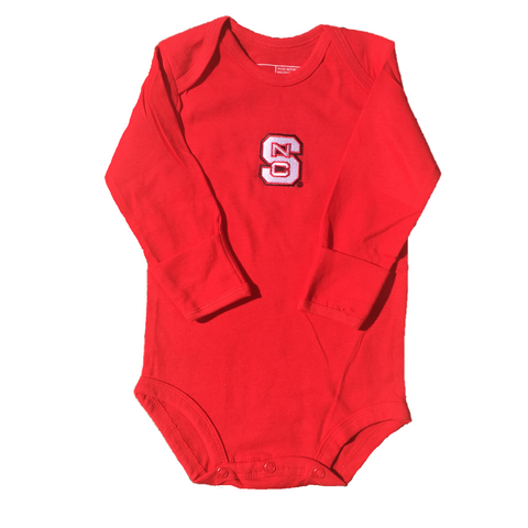 NC State Wolfpack Infant Red Long Sleeve Onesie Creeper
