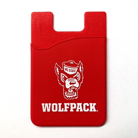 NC State Wolfpack Red Wolfhead Silicone Media Wallet