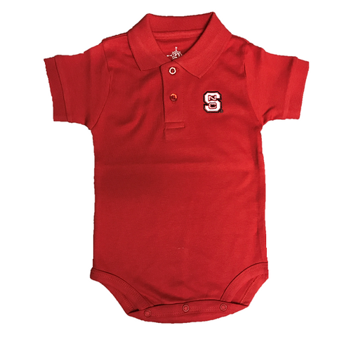 NC State Wolfpack Infant Red Polo Creeper