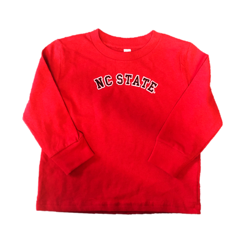 NC State Wolfpack Toddler Red NC State Tackle Twill Long Sleeve T-Shirt