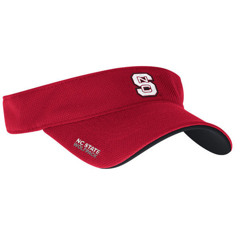 NC State Wolfpack Adidas 2016 Red Coaches Sideline Visor
