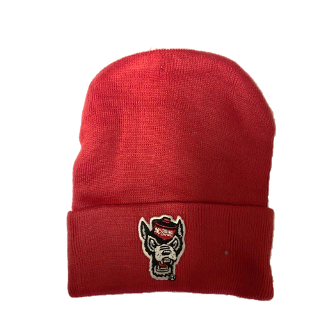 NC State Wolfpack Creative Red Wolfhead Knit Hat