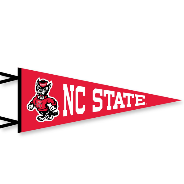 NC State Wolfpack Red 12x30 Strutting Wolf Pennant