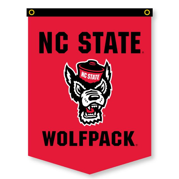 NC State Wolfpack Red 18x24 Wolfhead Banner