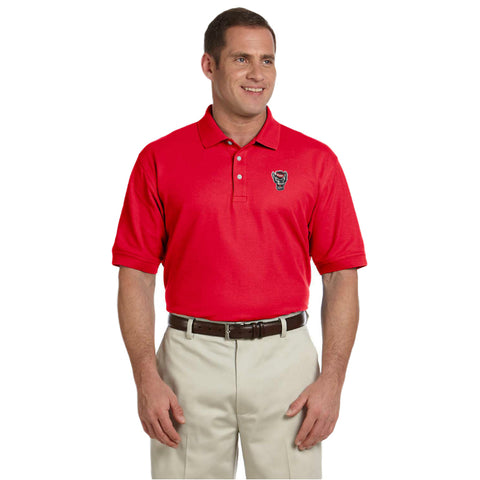 NC State Wolfpack Red Wolfhead Pima Cotton Polo