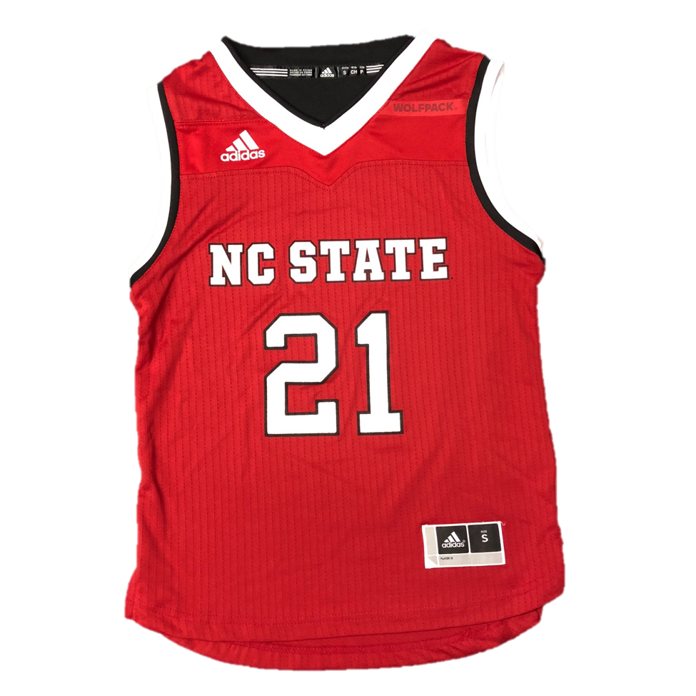 6f73d70e27b NC State Wolfpack Adidas Kid s Red  21 Replica Basketball Jersey – Red and  White Shop