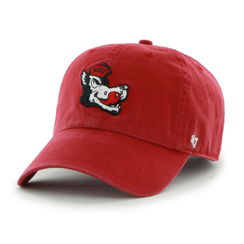 NC State Wolfpack Youth Red 47 Brand® Clean Up Adjustable Slob Wolf Hat