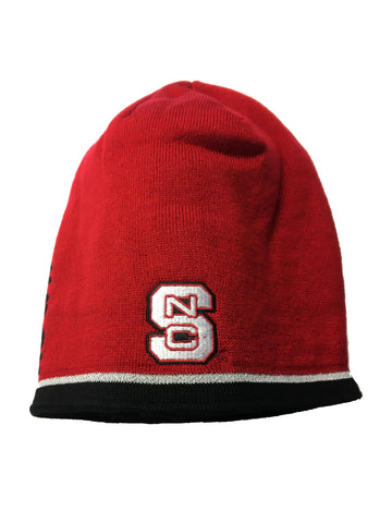 NC State Wolfpack Adidas Red Block S Coaches Sideline Uncuffed Beanie