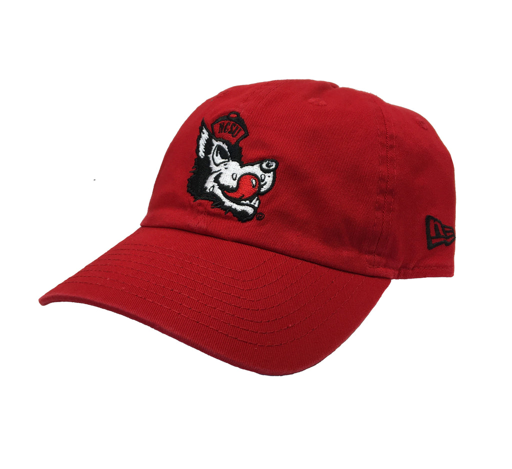 NC State Wolfpack New Era Red Slobbering Wolf Adjustable Hat