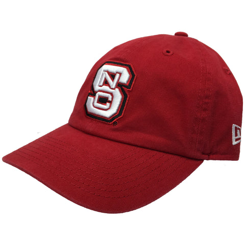 NC State Wolfpack New Era Red Block S Adjustable Hat