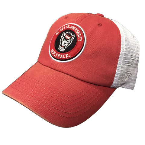 NC State Wolfpack TOW Red Jack Circle Wolfhead Adjustable Hat