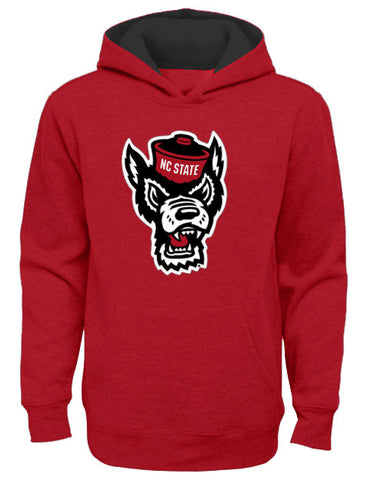 NC State Wolfpack Youth Red Wolfhead Prime Hooded Sweatshirt