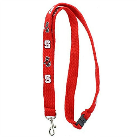 NC State Wolfpack Red Cotton Lanyard