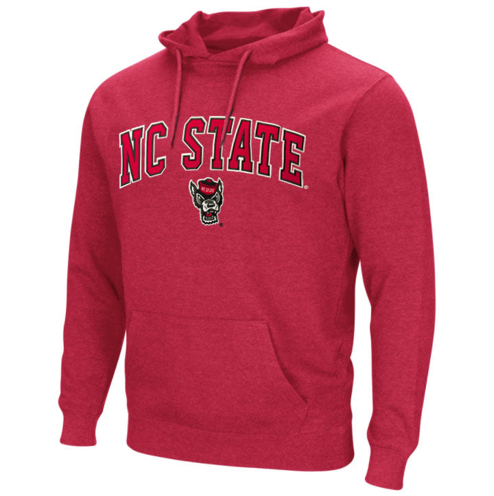NC State Wolfpack Men's Heather Red Campus Wolfhead Hooded Sweatshirt