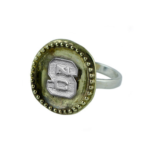 NC State Wolfpack Antique Coin Ring Size 7