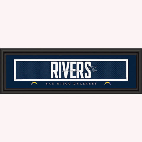 San Diego Chargers Philip Rivers Signature Print