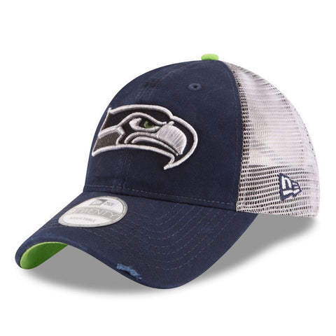 Seattle Seahawks New Era NavyTeam Rustic 9Twenty Adjustable Hat