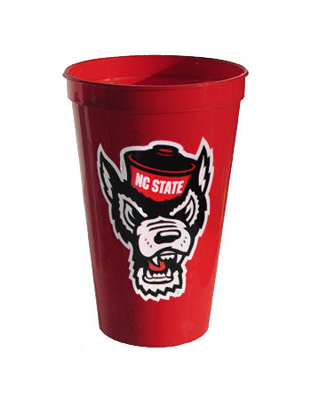 NC State Wolfpack 22oz. Red Wolfhead Stadium Cup