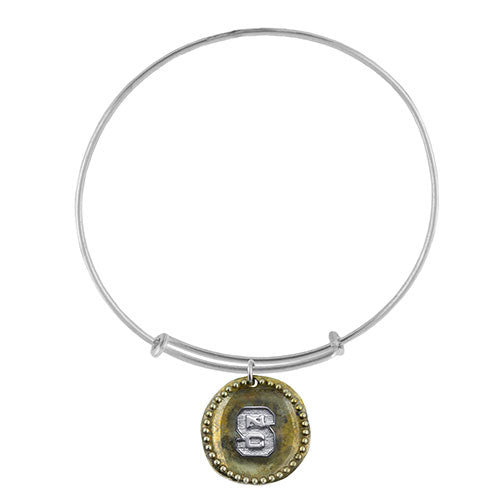 NC State Wolfpack Block S Antique Coin Adjustable Bracelet