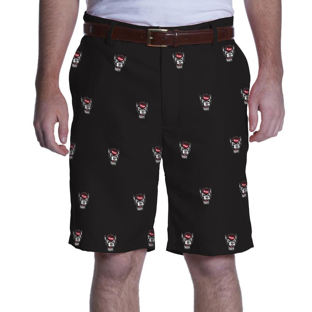 NC State Wolfpack Ovation Black Wolfhead Shorts