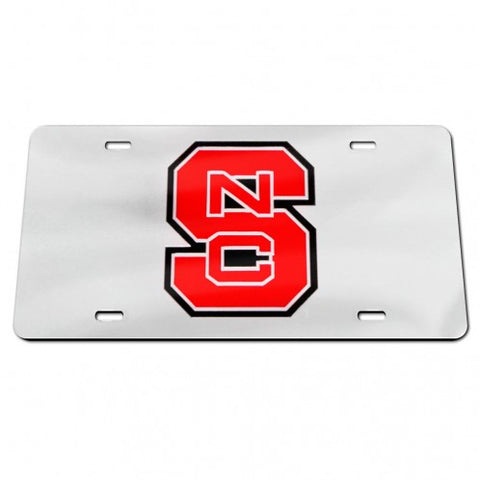 NC State Wolfpack Wincraft Silver Block S License Plate