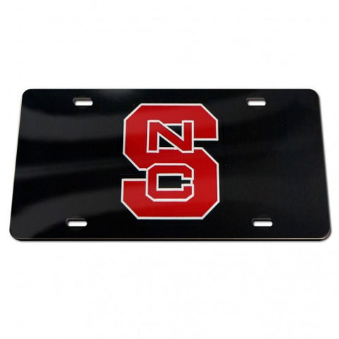 NC State Wolfpack Wincraft Black Block S License Plate