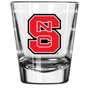 NC State Wolfpack 2oz Satin Etch Block S Shot Glass