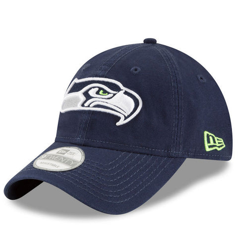Seattle Seahawks New Era Navy Shore 9Twenty Adjustable Hat