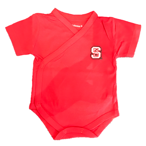 NC State Wolfpack Infant Red Side Snap Creeper (Preemie Sizes)