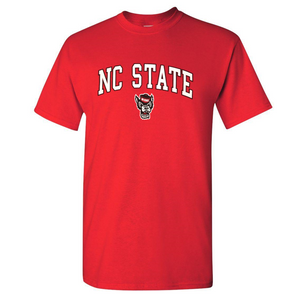 NC State Wolfpack Youth Red Signature Wolfhead T-Shirt