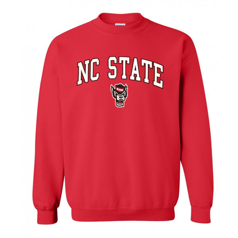 NC State Wolfpack Youth Red Signature Wolfhead Crewneck Sweatshirt