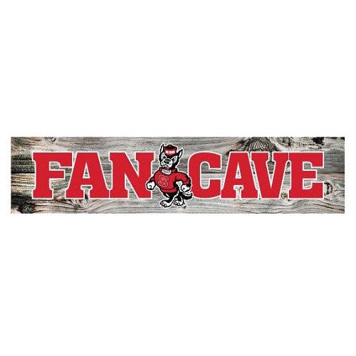 NC State Wolfpack Strutting Wolf Fan Cave Sign