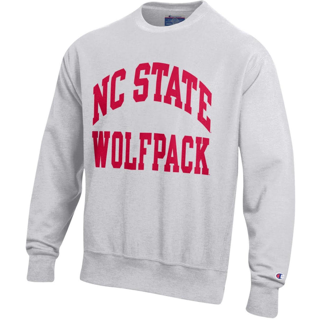 608d08ded392 NC State Wolfpack Champion Silver Grey Reverse Weave Crewneck ...