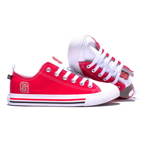 NC State Wolfpack Red Low Top Shoes