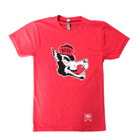 NC State Wolfpack Heathered Red Slobbering Wolf T-Shirt