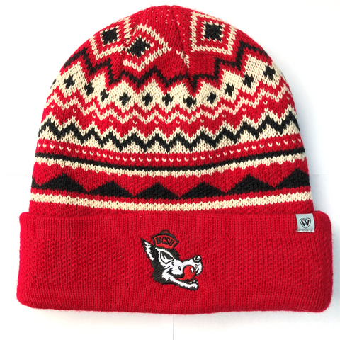 NC State Wolfpack TOW Dusty Three Tone Vault Knit Hat